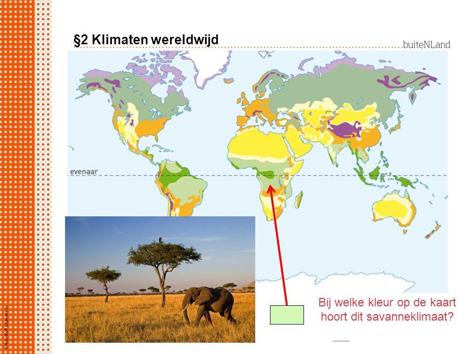 Bij welke kleur op de kaart hoort dit savanneklimaat