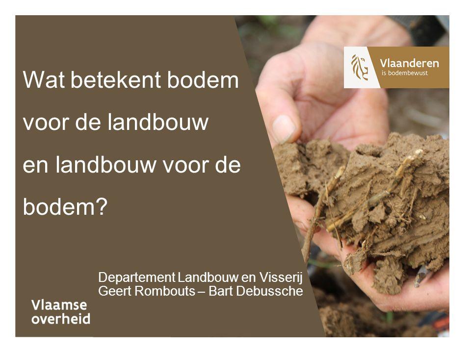 Wat betekent bodem voor de landbouw en landbouw voor de bodem