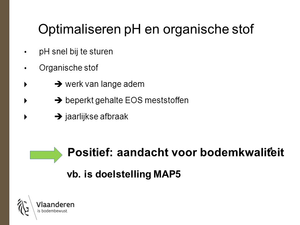 Optimaliseren pH en organische stof