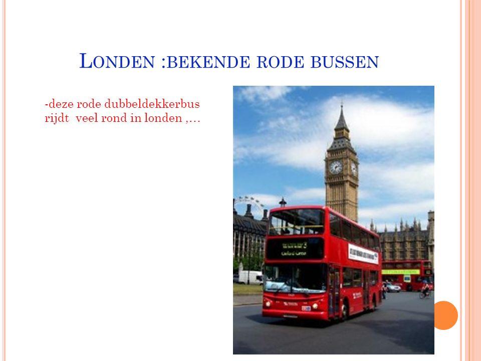 Londen :bekende rode bussen