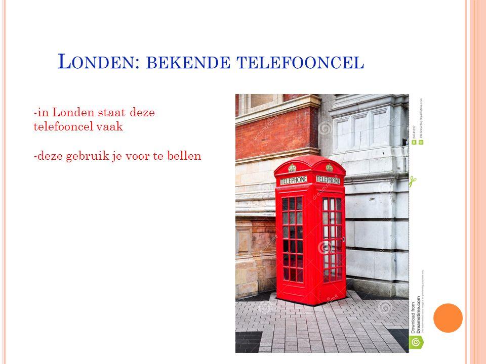 Londen: bekende telefooncel
