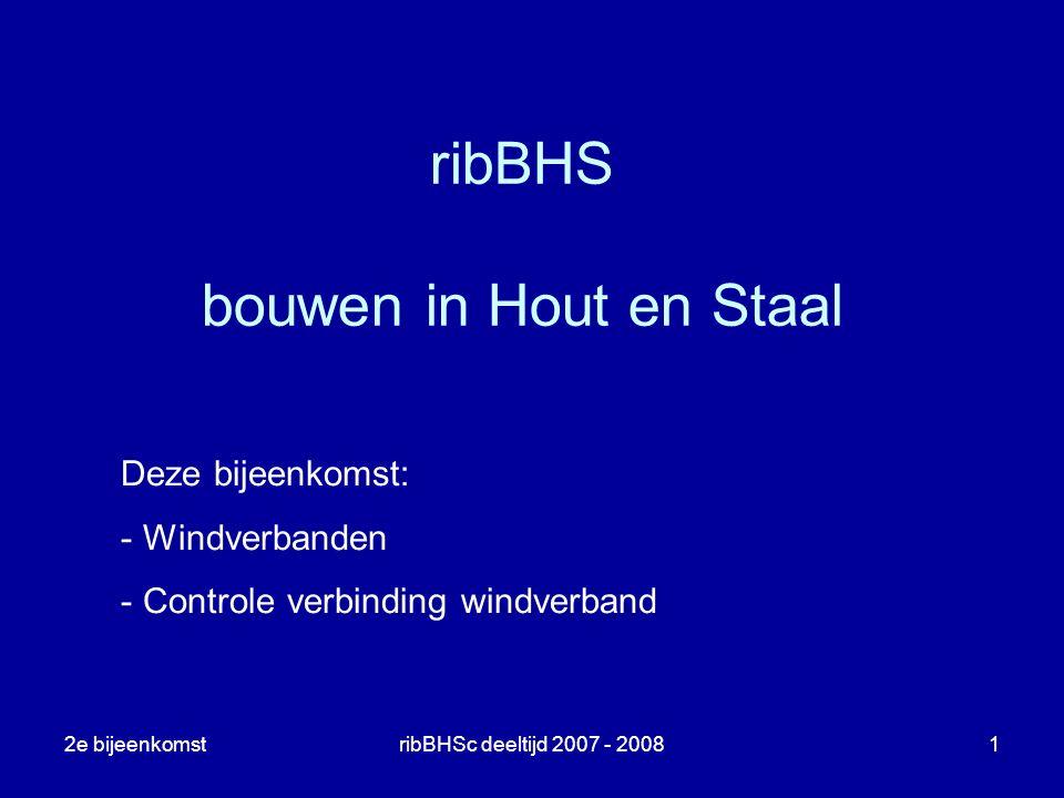 ribBHS bouwen in Hout en Staal