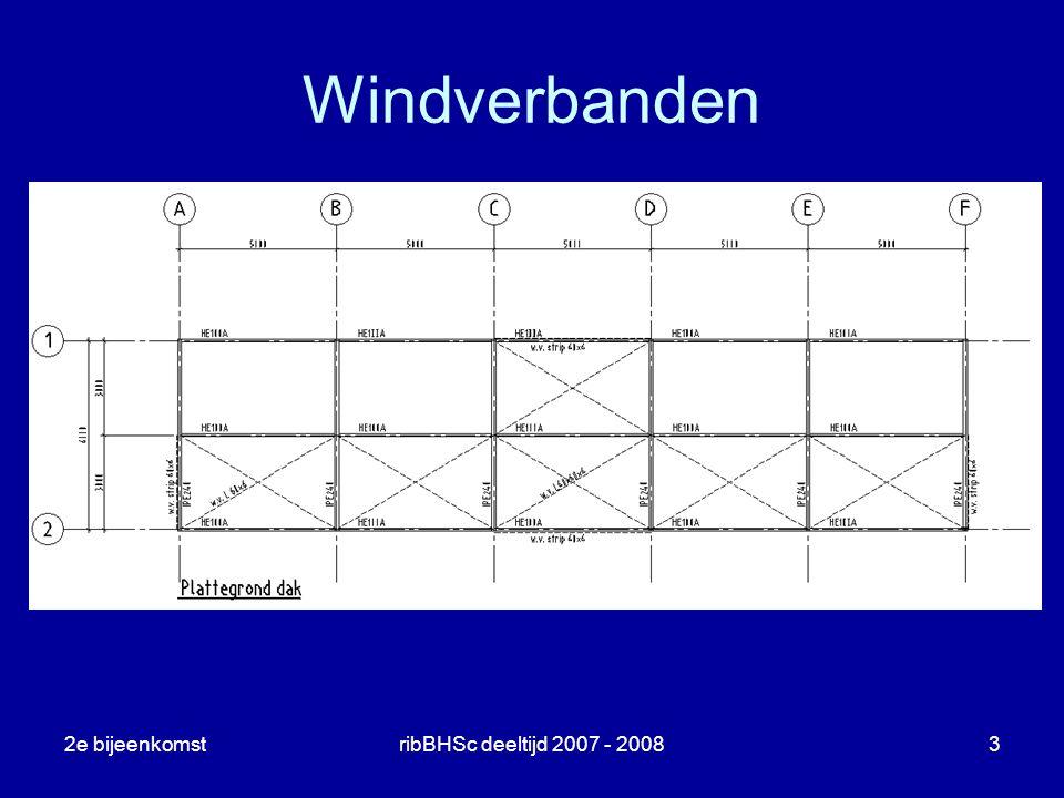 Windverbanden 2e bijeenkomst ribBHSc deeltijd 2007 - 2008