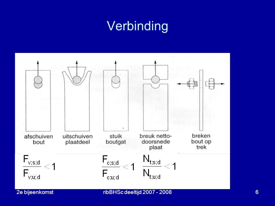 Verbinding 2e bijeenkomst ribBHSc deeltijd 2007 - 2008