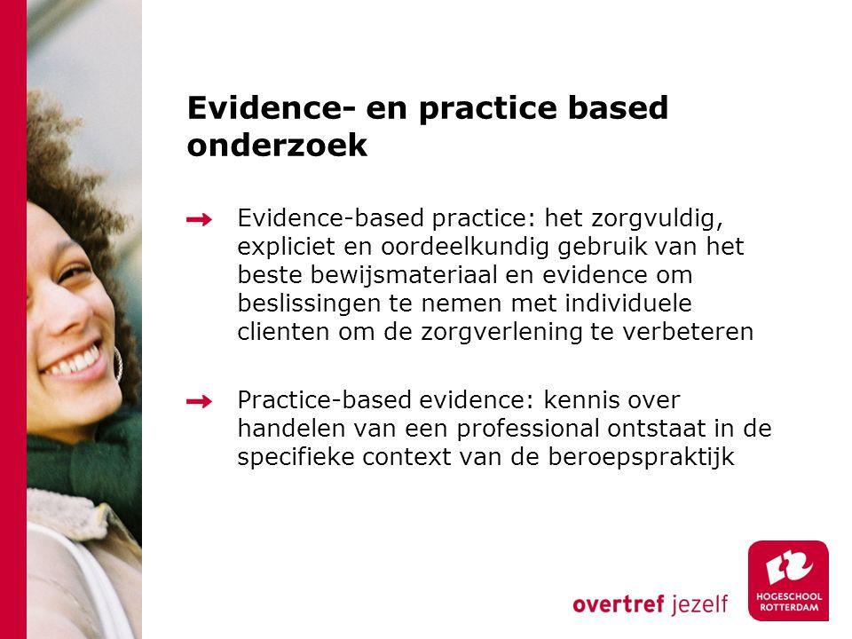 Evidence- en practice based onderzoek