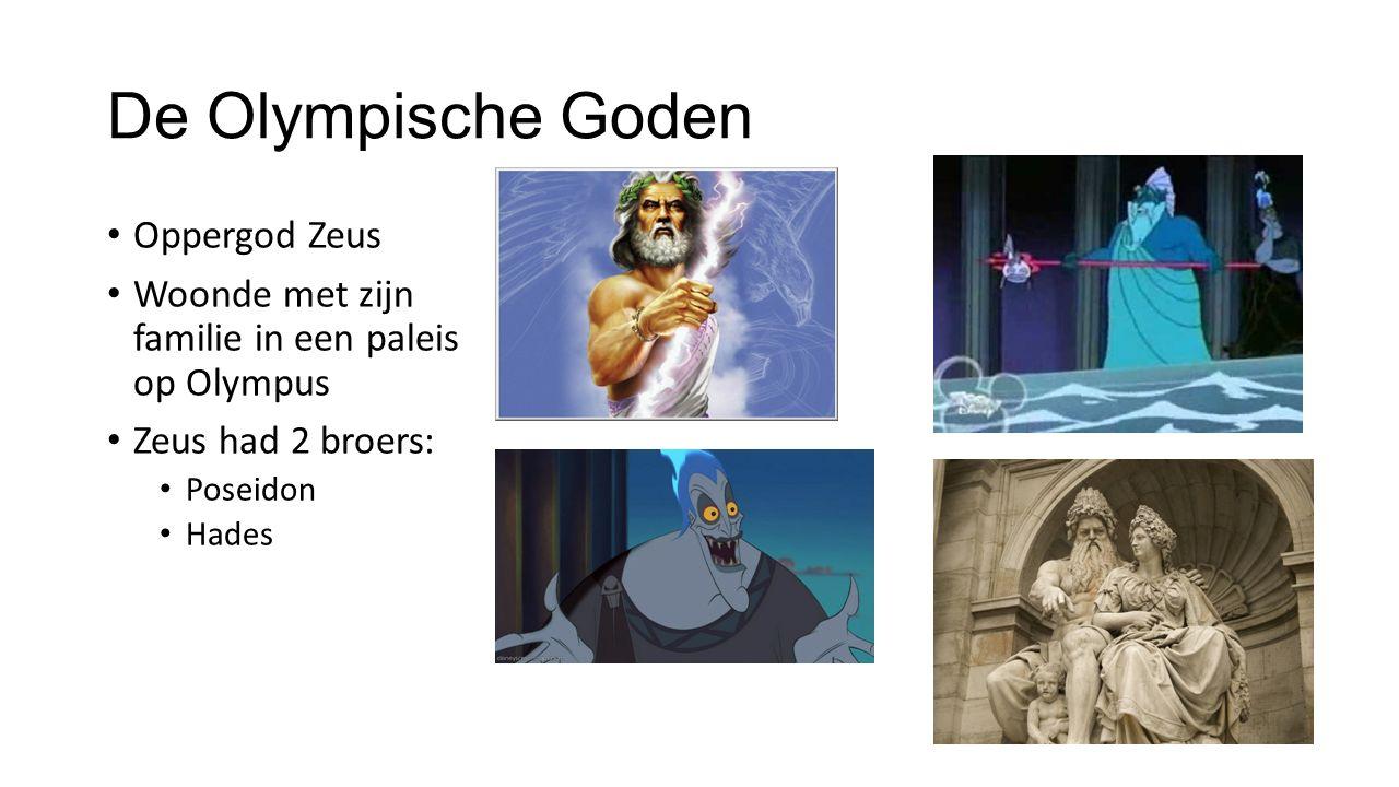 De Olympische Goden Oppergod Zeus