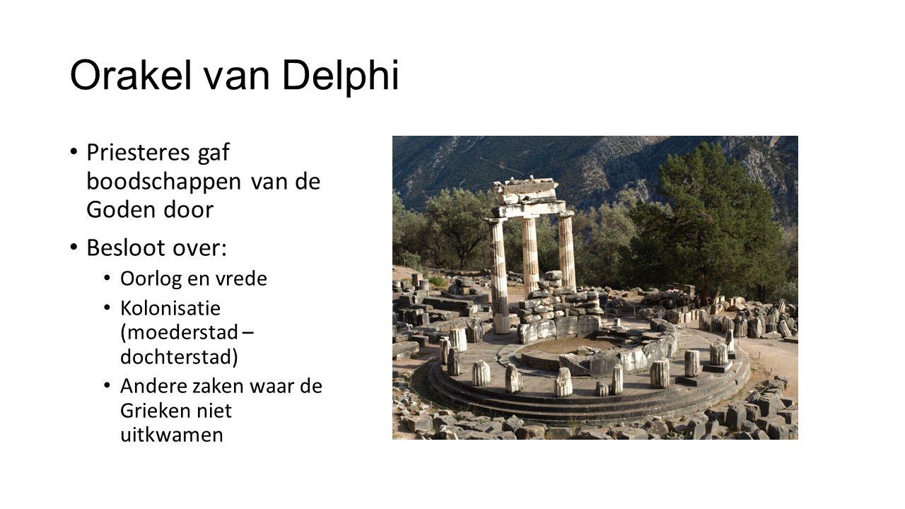 Orakel van Delphi Priesteres gaf boodschappen van de Goden door