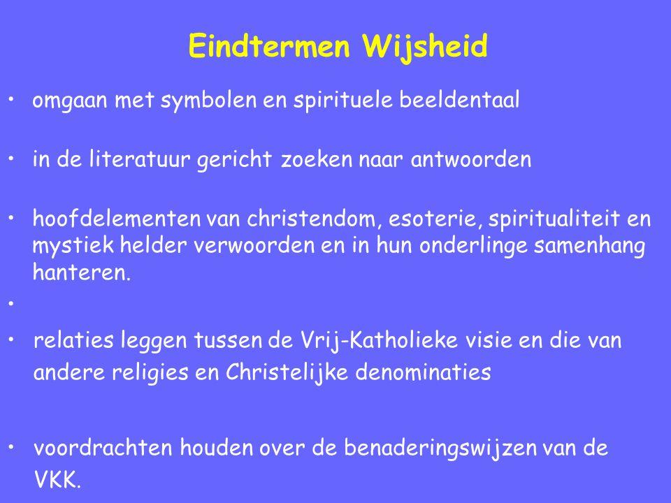 Eindtermen Wijsheid omgaan met symbolen en spirituele beeldentaal