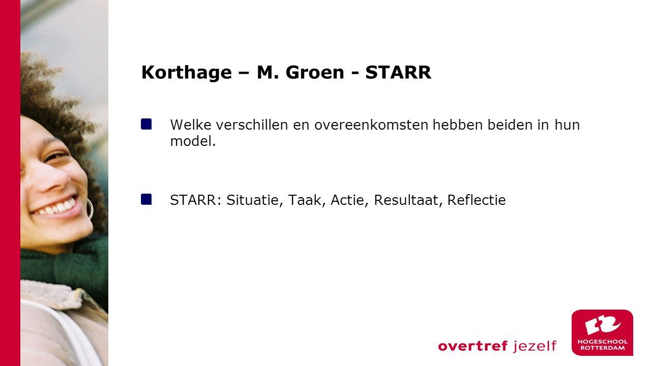 Korthage – M. Groen - STARR