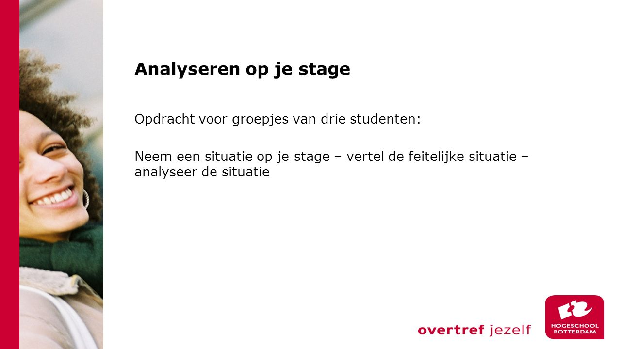 Analyseren op je stage