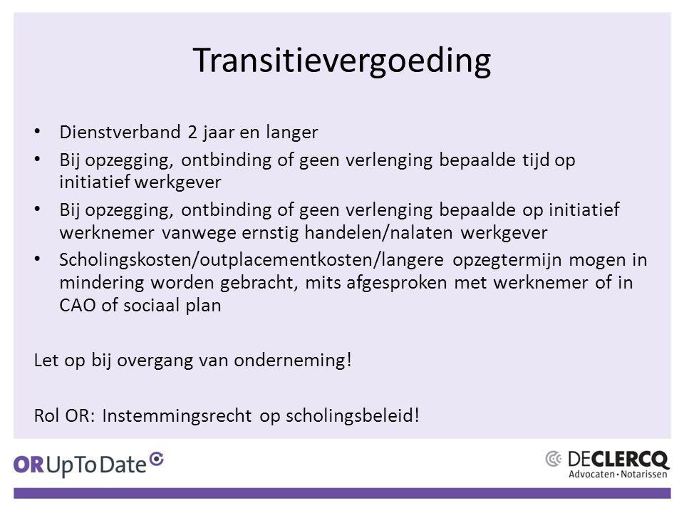 Transitievergoeding Dienstverband 2 jaar en langer