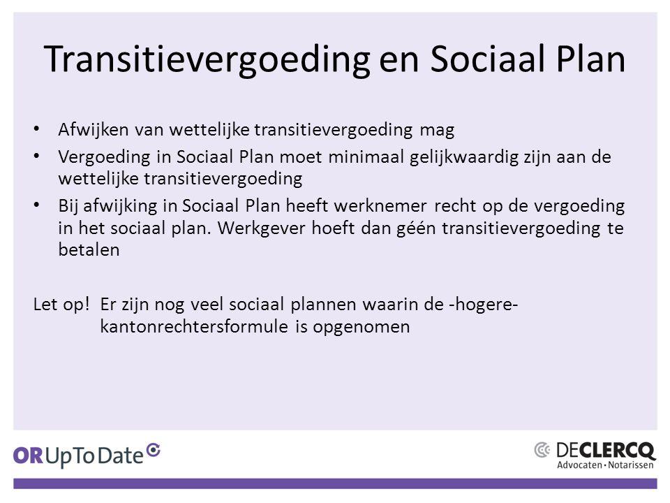 Transitievergoeding en Sociaal Plan