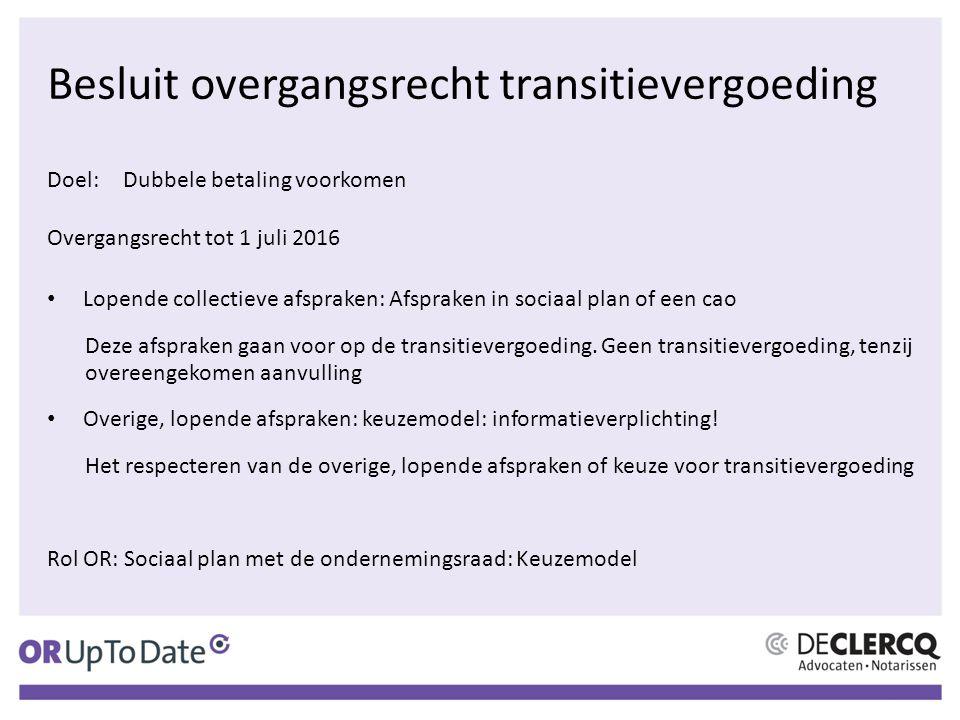 Besluit overgangsrecht transitievergoeding