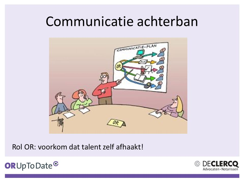 Communicatie achterban