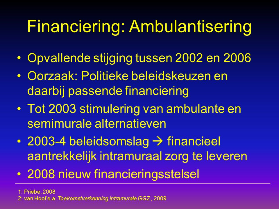 Financiering: Ambulantisering