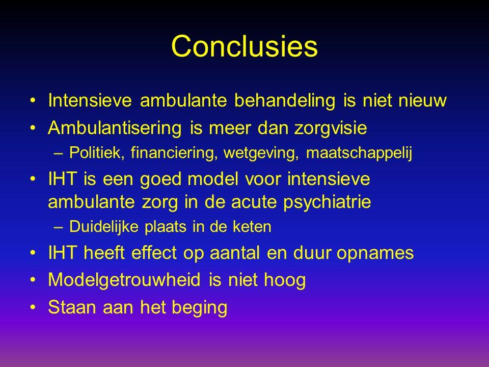 Conclusies Intensieve ambulante behandeling is niet nieuw