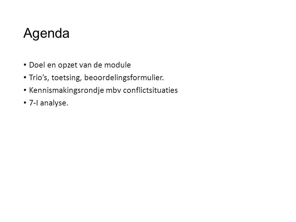 Agenda Doel en opzet van de module