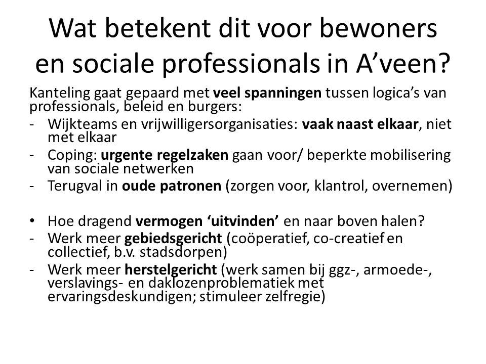 Wat betekent dit voor bewoners en sociale professionals in A'veen