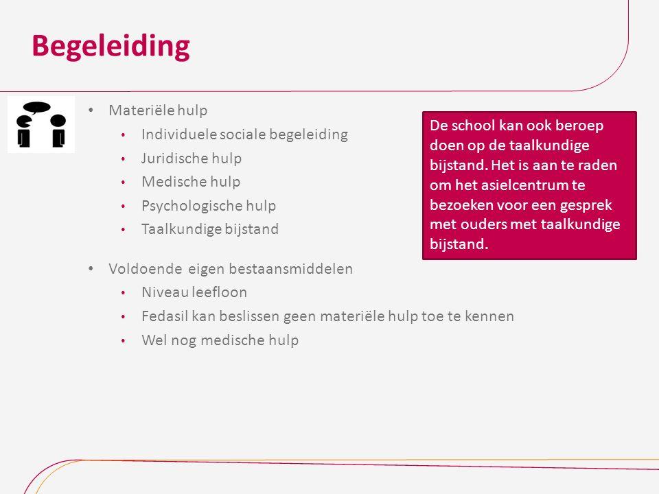 Begeleiding Materiële hulp Individuele sociale begeleiding
