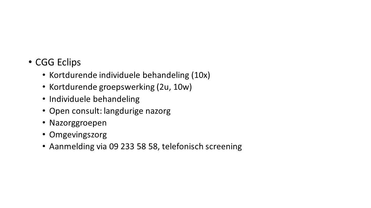 CGG Eclips Kortdurende individuele behandeling (10x)