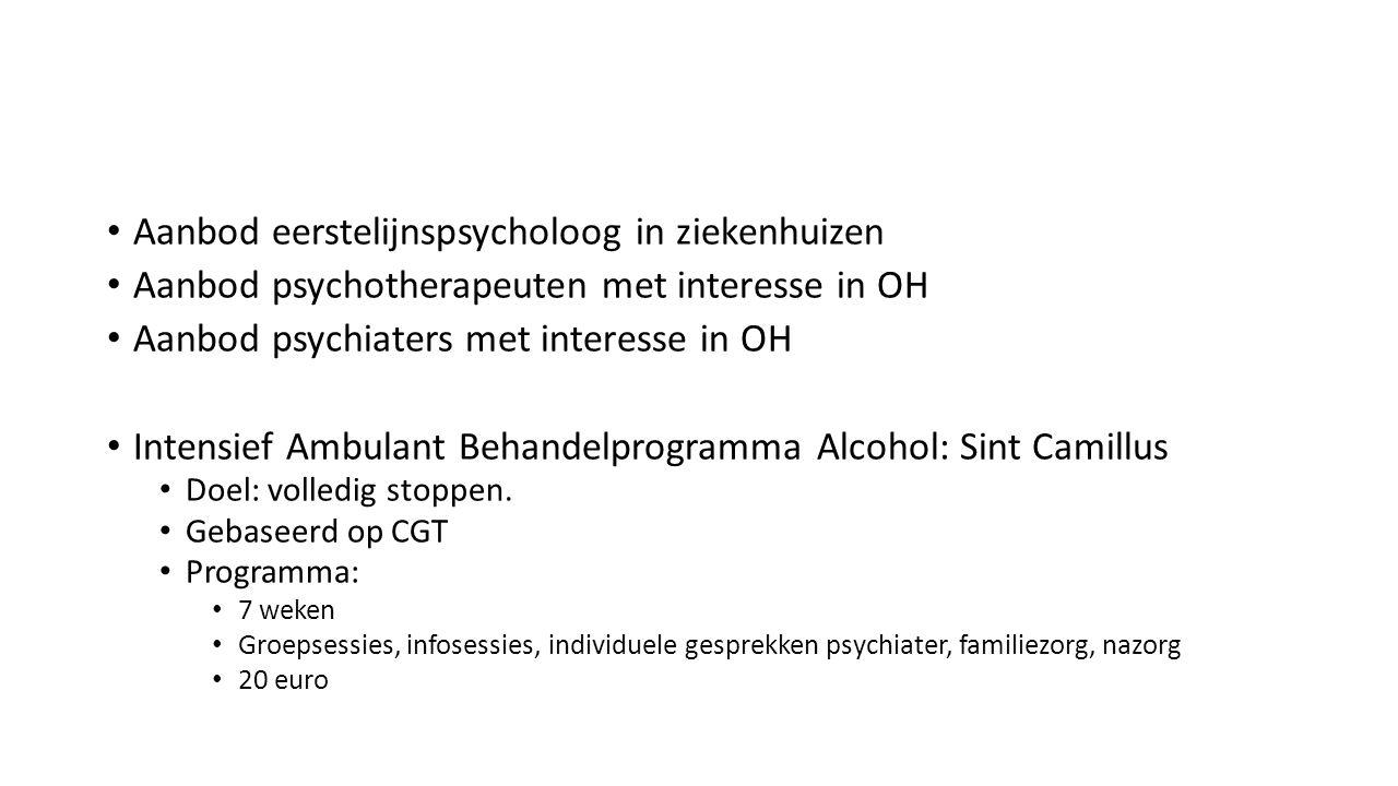 Aanbod eerstelijnspsycholoog in ziekenhuizen