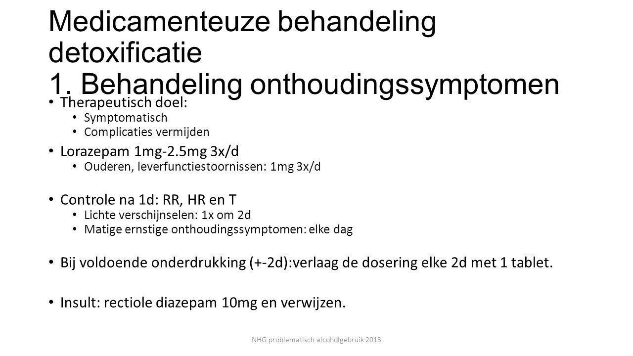 NHG problematisch alcoholgebruik 2013