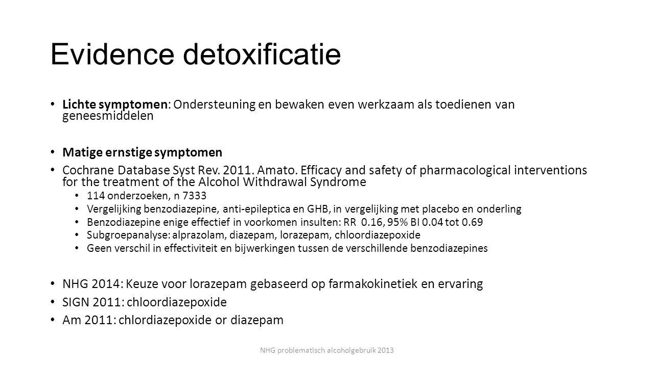 Evidence detoxificatie
