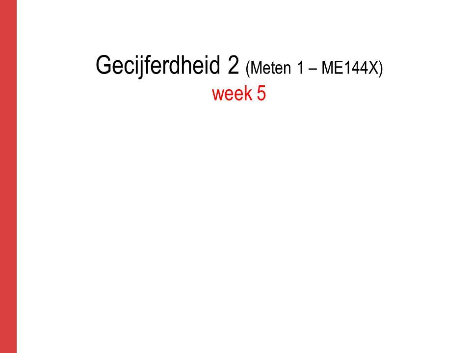 Gecijferdheid 2 (Meten 1 – ME144X) week 5