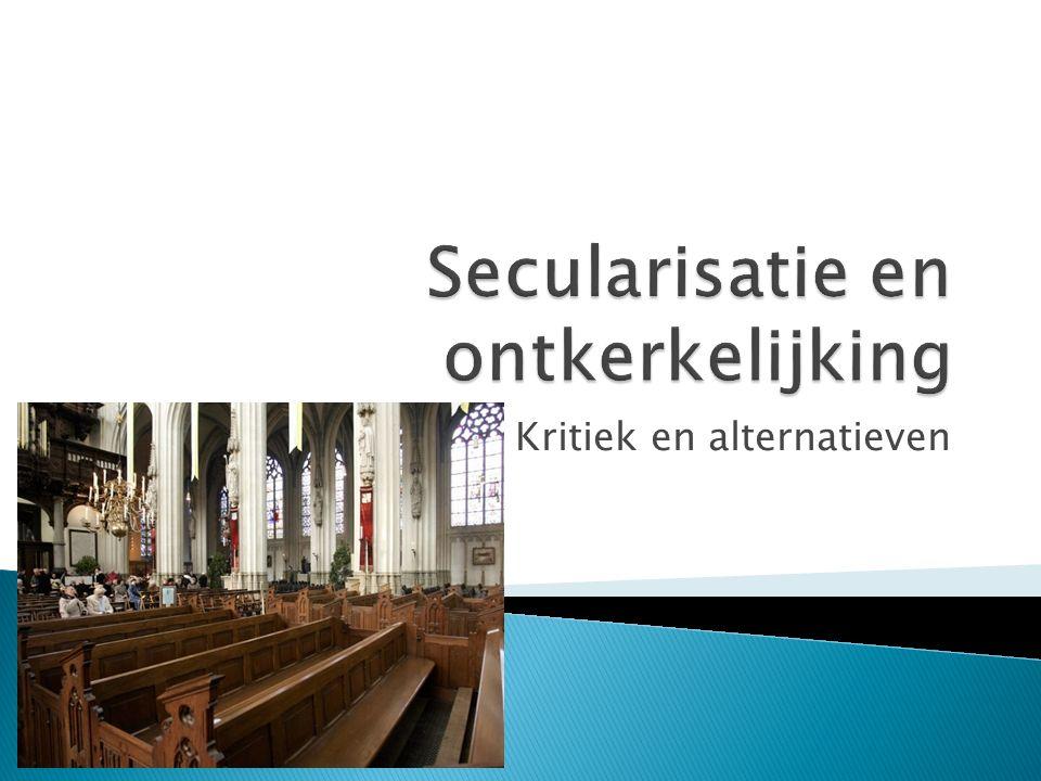 Secularisatie en ontkerkelijking