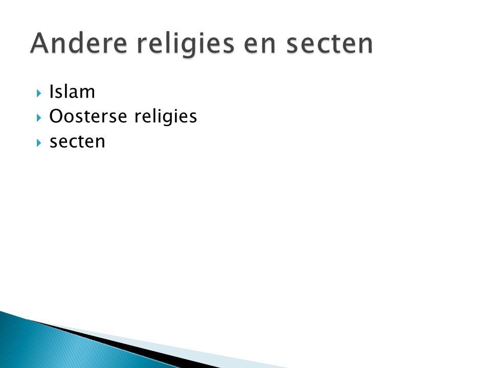 Andere religies en secten