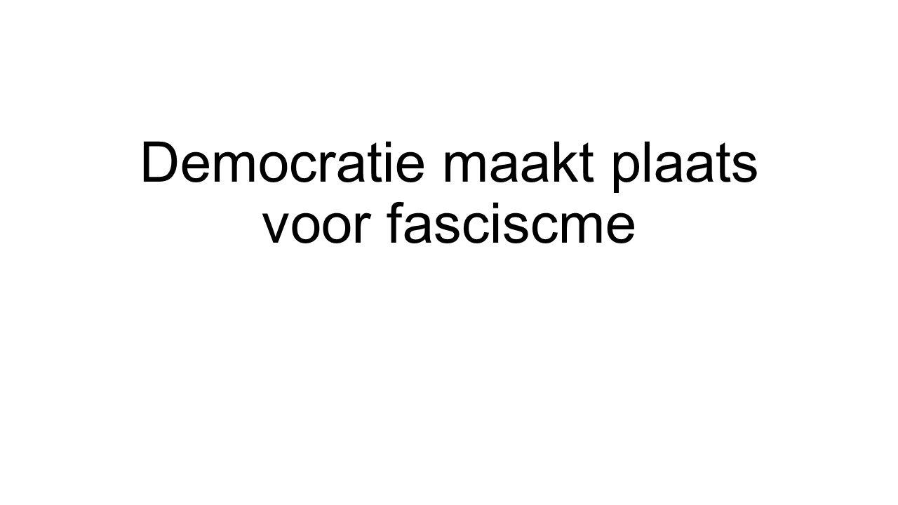 Democratie maakt plaats voor fasciscme
