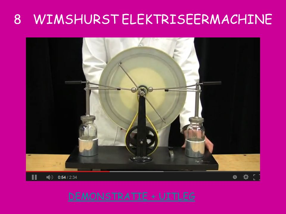8 WIMSHURST ELEKTRISEERMACHINE