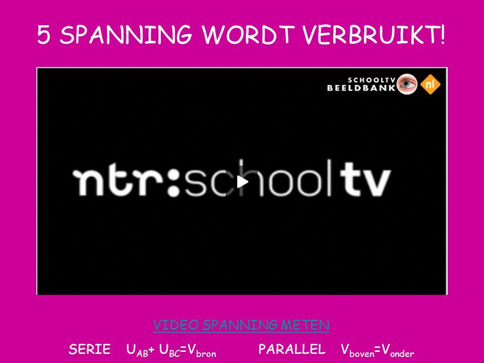 5 SPANNING WORDT VERBRUIKT!