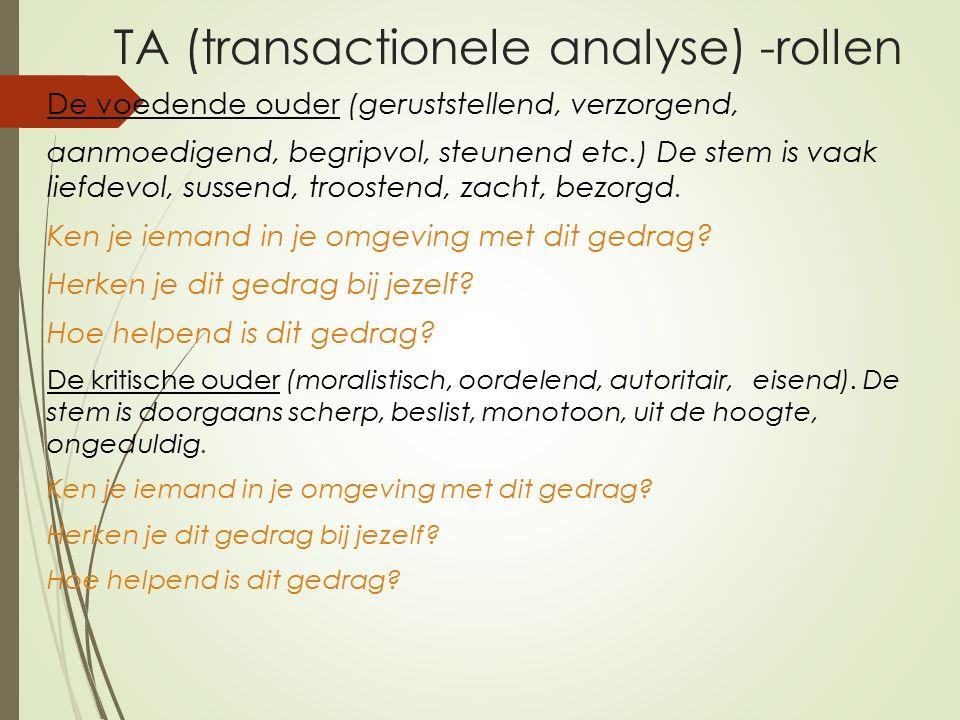 TA (transactionele analyse) -rollen