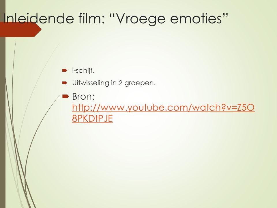 Inleidende film: Vroege emoties