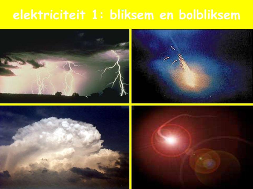 elektriciteit 1: bliksem en bolbliksem