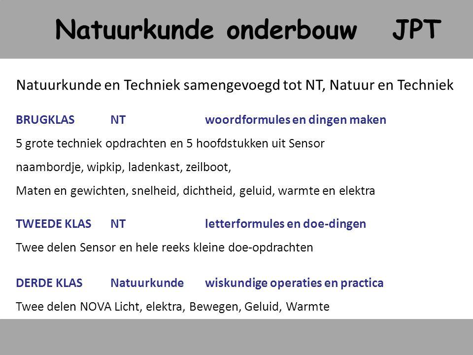 Natuurkunde onderbouw JPT