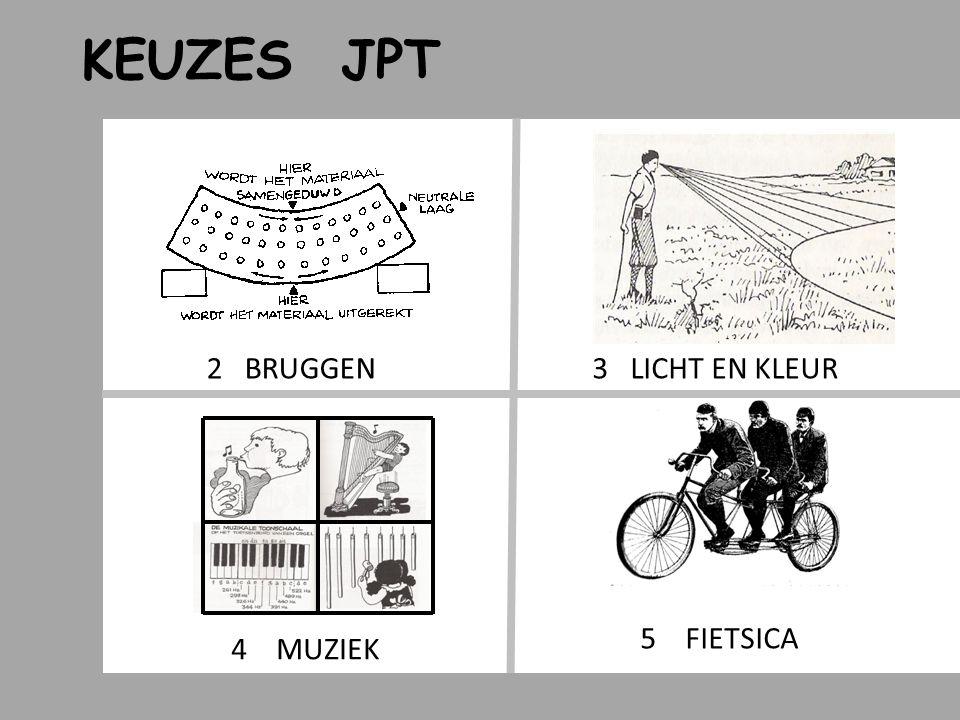 KEUZES JPT 2 BRUGGEN 3 LICHT EN KLEUR 5 FIETSICA 4 MUZIEK