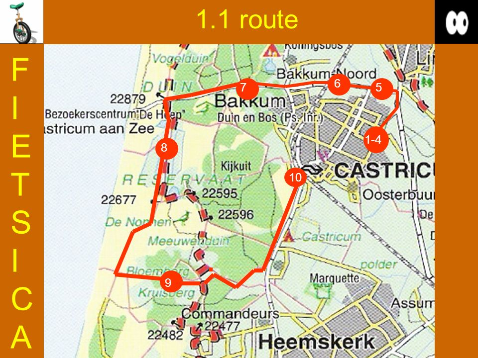 1.1 route FIETSICA 6 7 5 1-4 8 10 9