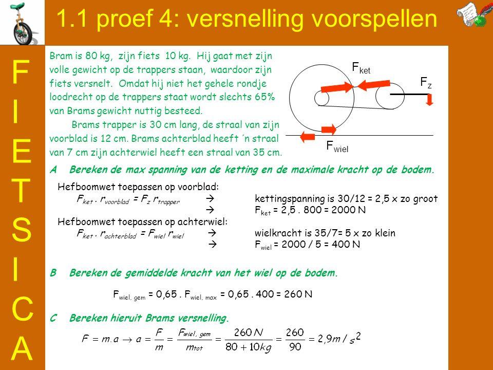 1.1 proef 4: versnelling voorspellen