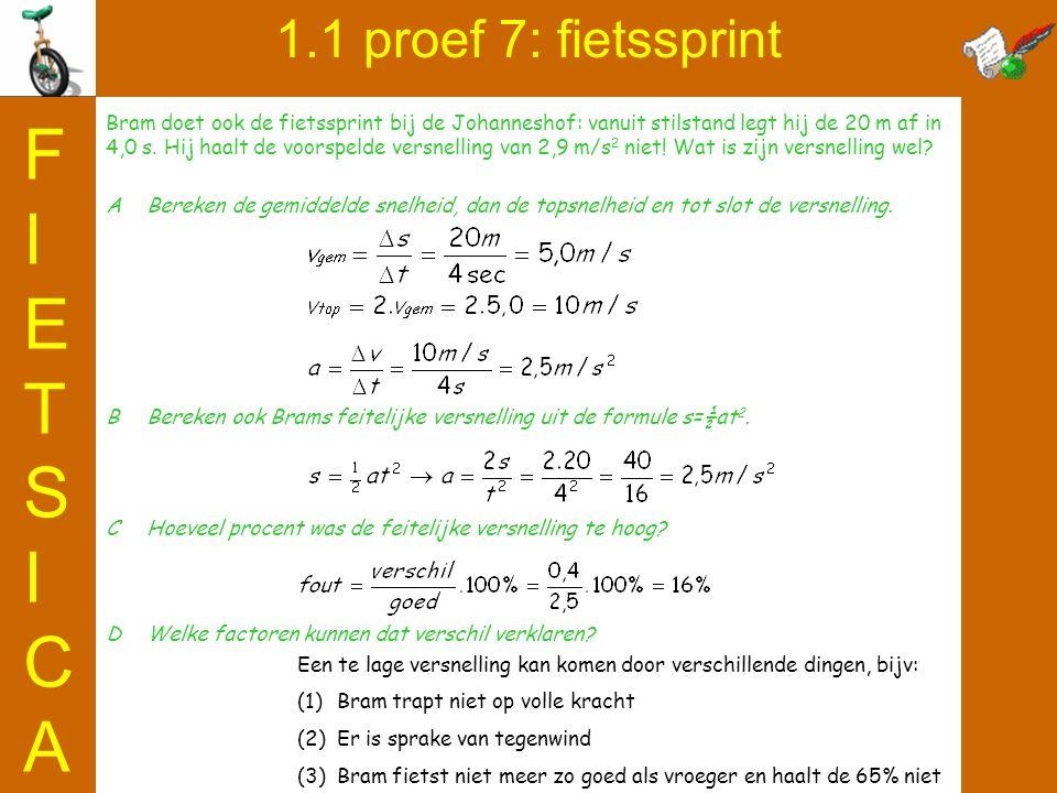 FIETSICA 1.1 proef 7: fietssprint