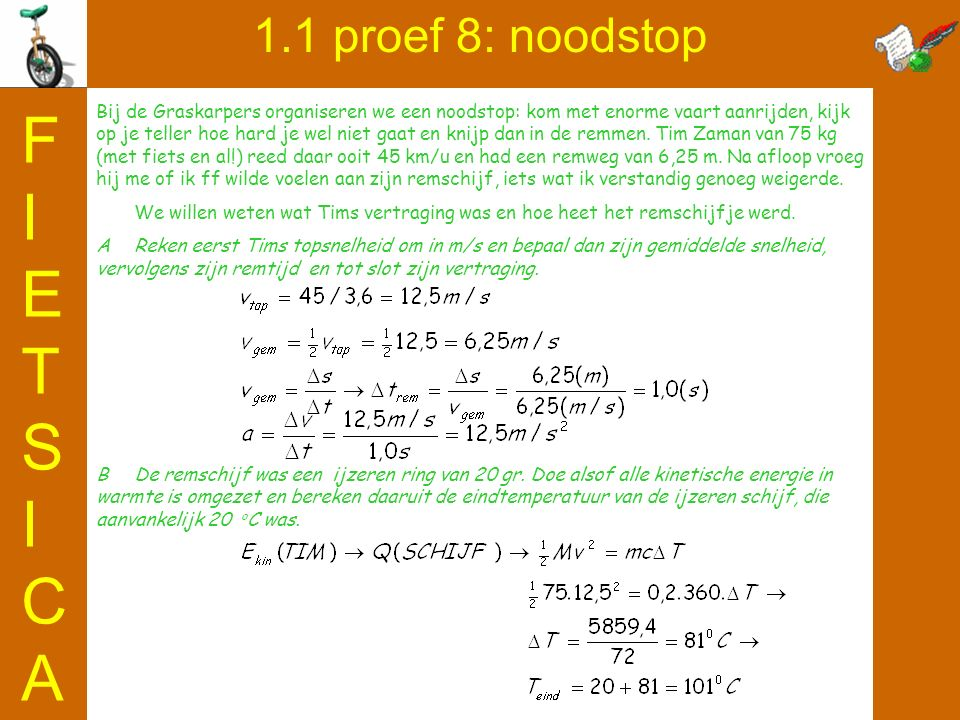 FIETSICA 1.1 proef 8: noodstop