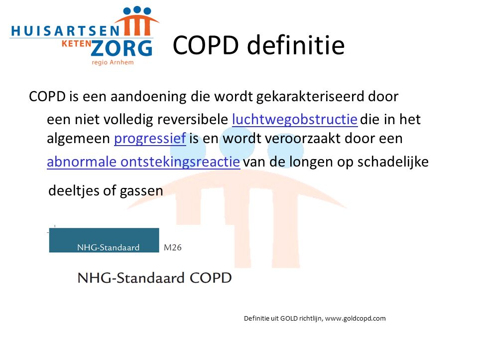 COPD definitie deeltjes of gassen
