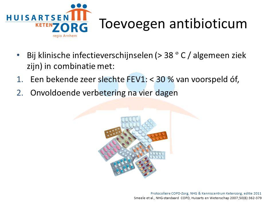 Toevoegen antibioticum