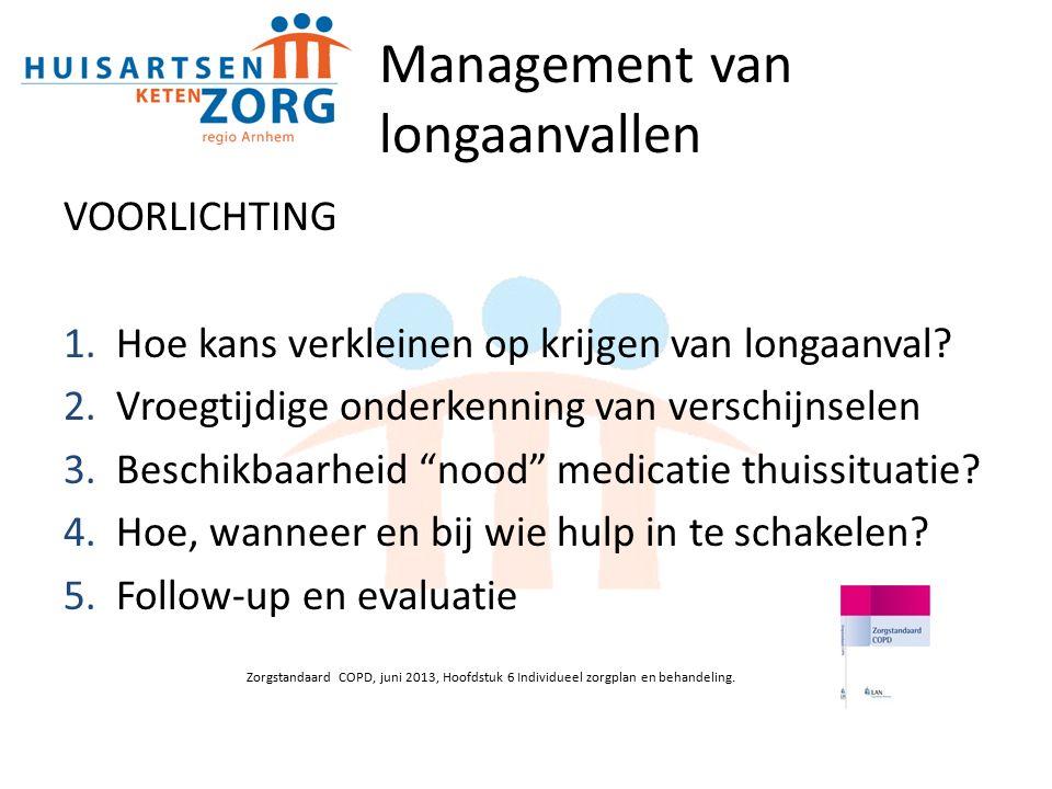 Management van longaanvallen