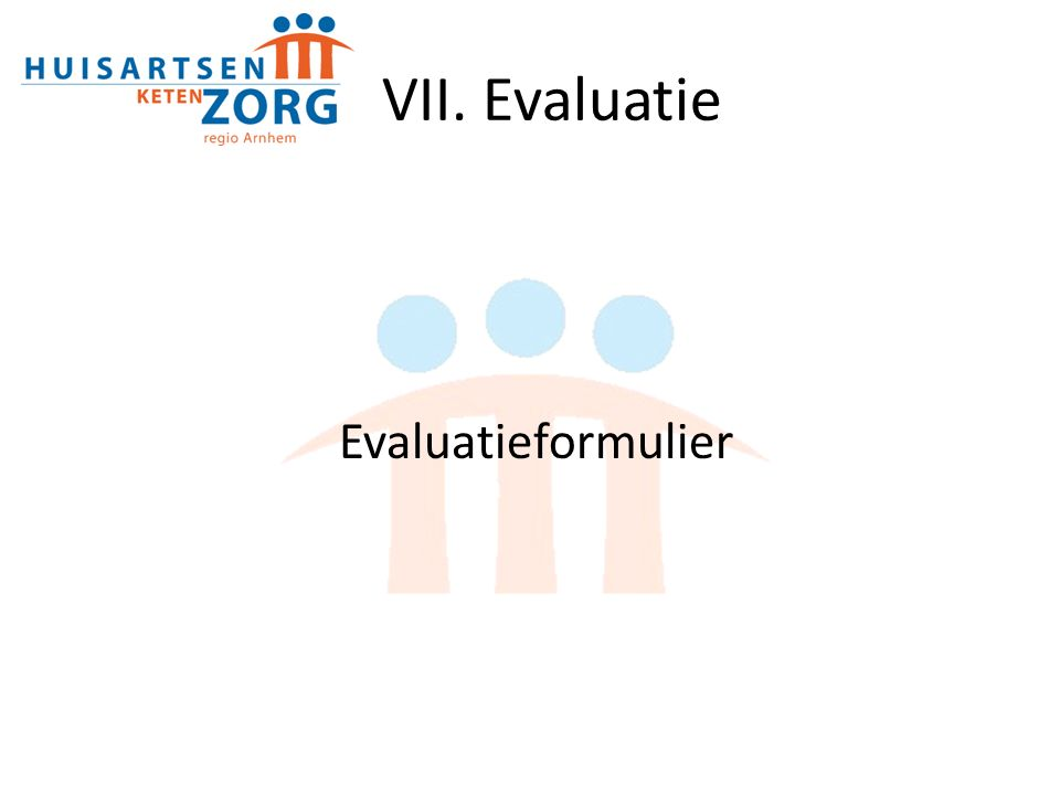 VII. Evaluatie Evaluatieformulier