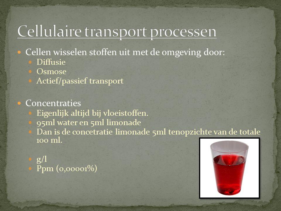 Cellulaire transport processen