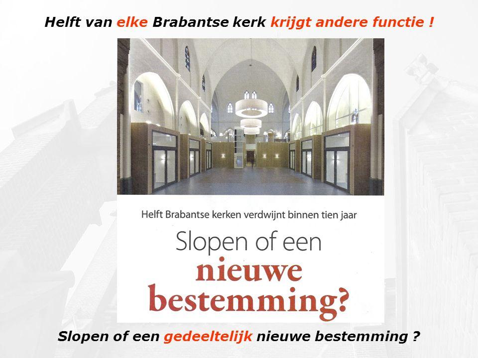Helft van elke Brabantse kerk krijgt andere functie !