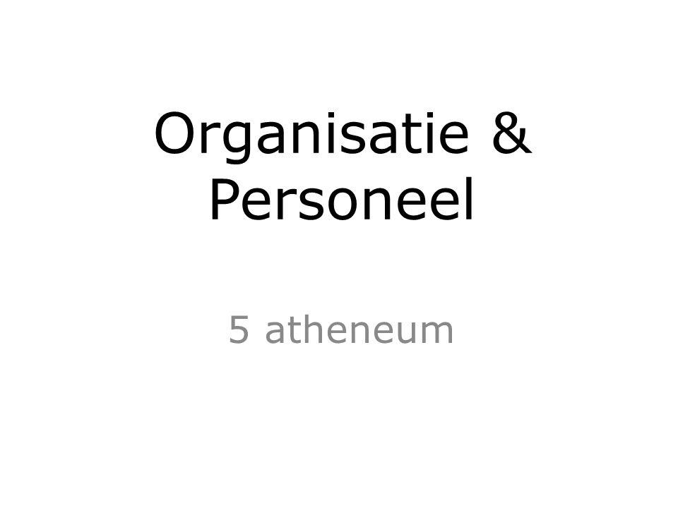 Organisatie & Personeel