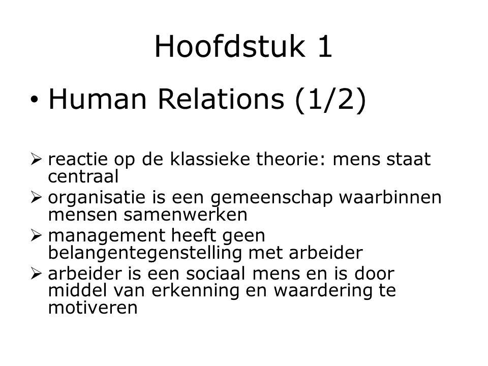 Hoofdstuk 1 Human Relations (1/2)